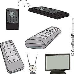 tv, divers, télécommandes