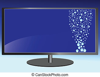 tv, eau, lcd, écran