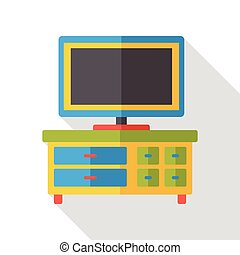 TV electricity flat icon