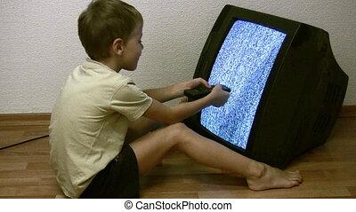 tv, enfant