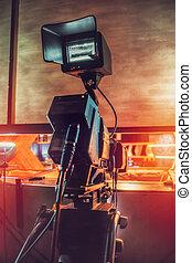 tv, enregistrement, appareil photo