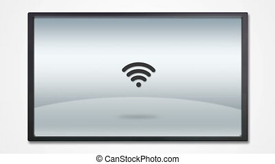 tv, exposer, 4k, icône, internet