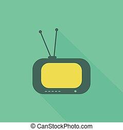 TV flat icon2