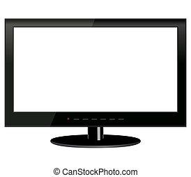 tv, fond blanc