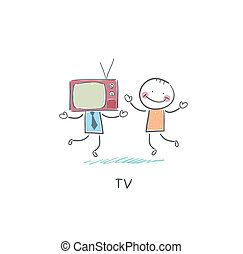 tv, friend., -
