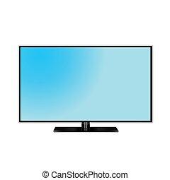 tv, gráfico, monitor