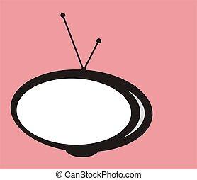 tv, grafico, retro