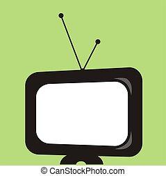 tv, graphique, retro
