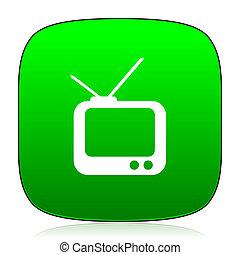 tv green icon