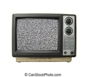 tv, grungy, statique
