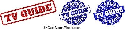 TV GUIDE Grunge Stamp Seals