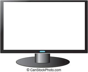 tv, hdtv, blanc écran