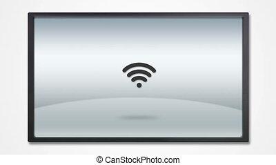 tv, icône, exposer, hd, internet