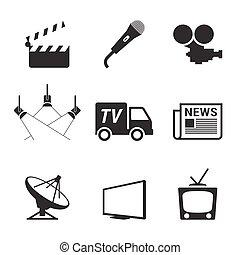 tv, icônes