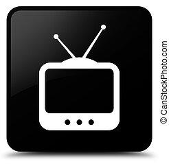 TV icon black square button