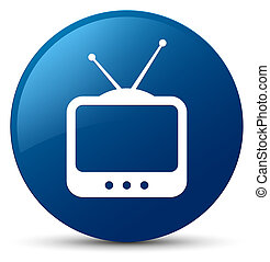 TV icon blue round button