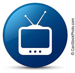 TV icon blue round button