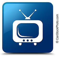 TV icon blue square button