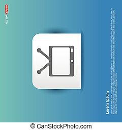 TV Icon - Blue Sticker button