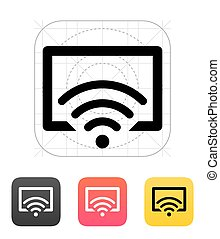 tv, icon., contrôle, éloigné