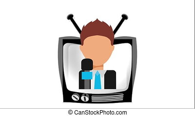 tv icon design, Video Animation