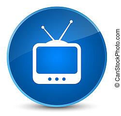 TV icon elegant blue round button