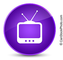 TV icon elegant purple round button