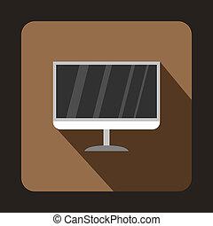 TV icon, flat style
