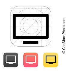 tv, icon., flatscreen