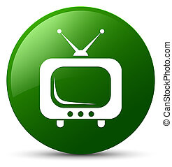 TV icon green round button