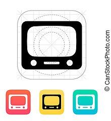 tv, icon.