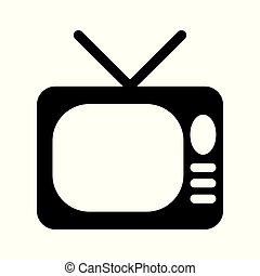 Tv Icon in trendy flat style