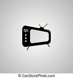 Tv Icon in trendy flat style isolated on grey background. Television symbol for your web site design, logo, app, UI. Vector illustration.