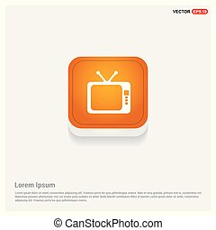 Tv Icon Orange Abstract Web Button