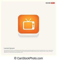 Tv Icon Orange Abstract Web Button