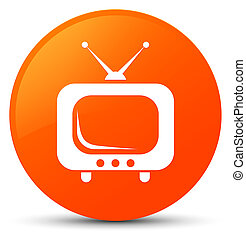 TV icon orange round button