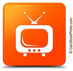 TV icon orange square button