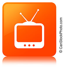 TV icon orange square button