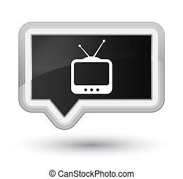 TV icon prime black banner button