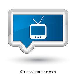 TV icon prime blue banner button