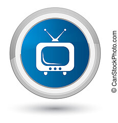 TV icon prime blue round button