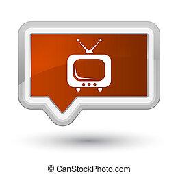TV icon prime brown banner button