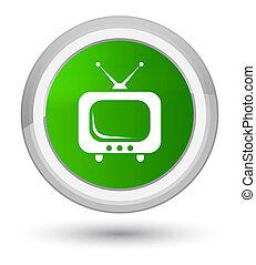 TV icon prime green round button