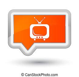 TV icon prime orange banner button