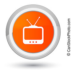 TV icon prime orange round button
