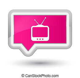 TV icon prime pink banner button