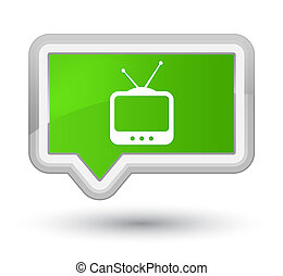 TV icon prime soft green banner button