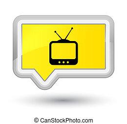 TV icon prime yellow banner button