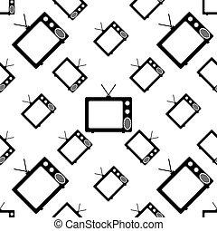 Tv Icon Seamless Pattern