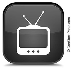 TV icon special black square button